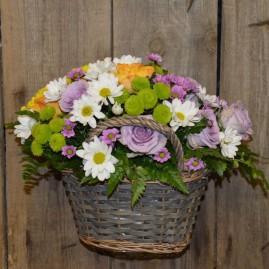 Gėlių pintinėlė